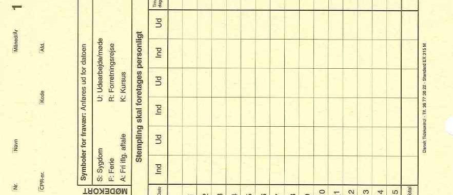 Stempelkort EX-315-M - DANTID