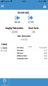 Timeregistrering på App